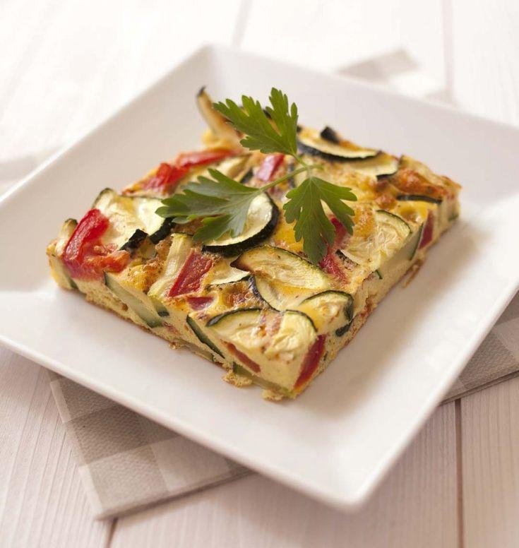 Photo de la recette : Omelette aux tomates et courgettes, cuisson au four