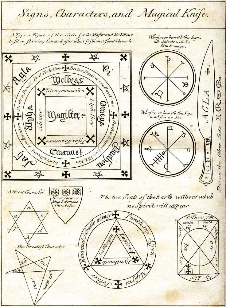 Sigils & Symbols:  #Signs, Characters, and Magickal Knife.
