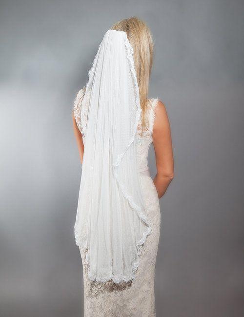 75759af056 Swiss Dot Lace Veil-Single Tier