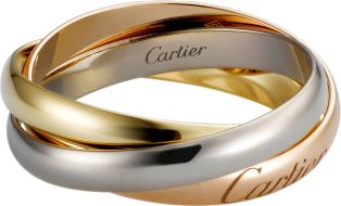 Trinity de Cartier ring, SM White gold, yellow gold, pink gold