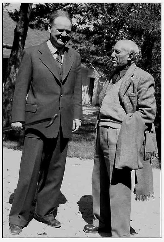 Pablo Picasso et Maurice Thorez en 1953 PCF