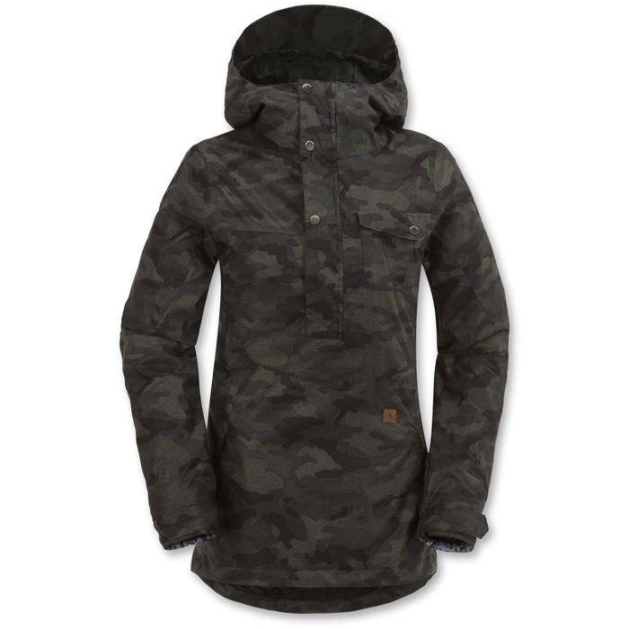 Volcom Gila Stretch Pullover Snowboard Jacket - Women's: Dark Camo