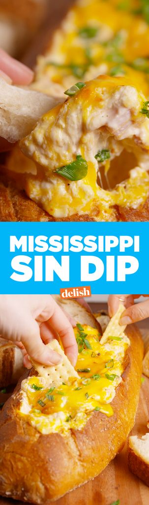 Mississippi Sin Dip proves every single food should be served in bread. Get the recipe from Delish.com.
