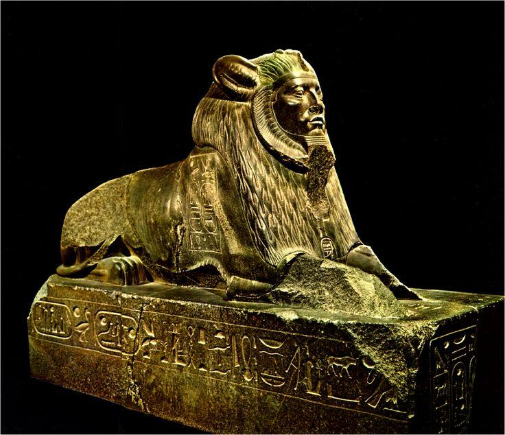 Sphinx d'Amenemhat III Basse-Egypte, Tanis. Moyen Empire, XIIe dyn, règne d'Amenemhat III.