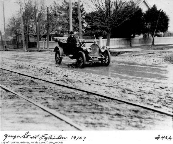 Yonge and Eglinton in Toronto, circa 1910.