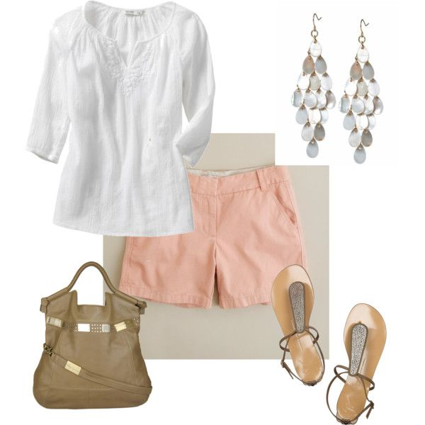 Classy comfySummer Attire, Fashion, Summer Looks, Clothing, Cute Summer Outfit, Summer Outfits, Outfit With Pink Shorts, Spring Summe, Spring Outfit