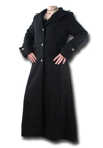 Damenmantel, schwarz von Inter-Moden
