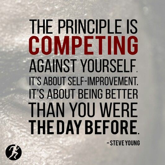 You Vs. You. Every Single Day. #competeeveryday #ced