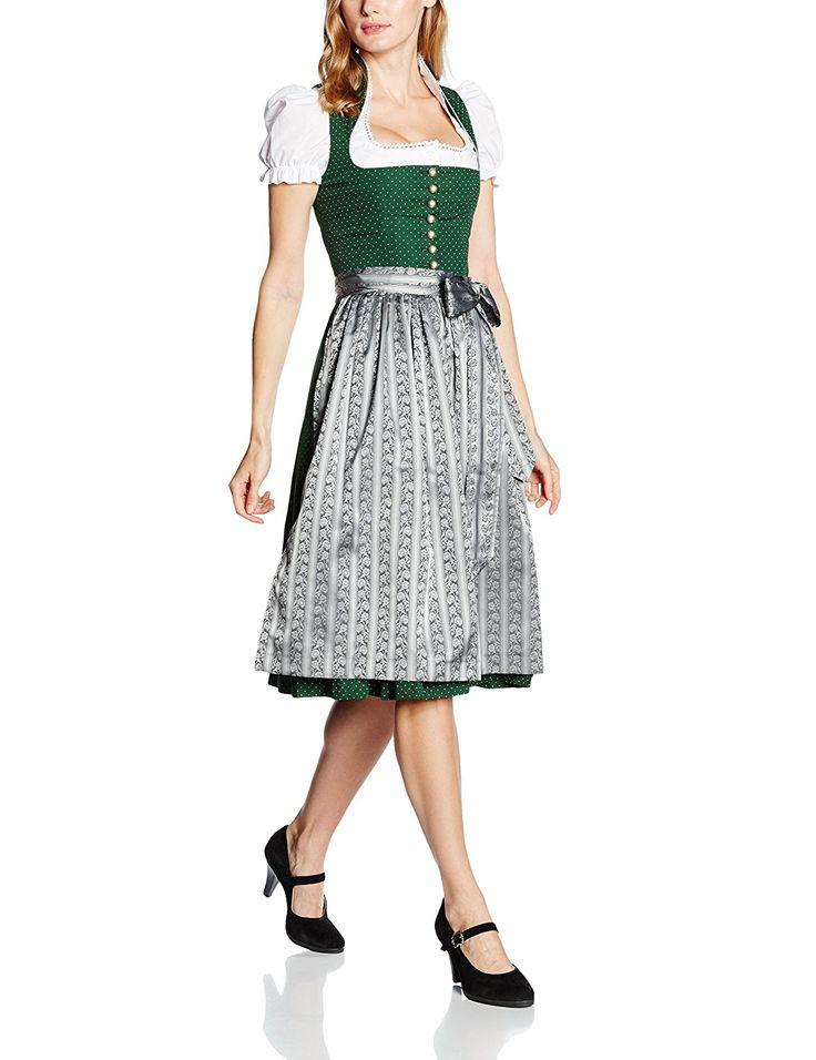 Berwin & Wolff Damen Dirndl 866561, Mehrfarbig (Tanne-Grau 1719), 32: Amazon.de: Bekleidung