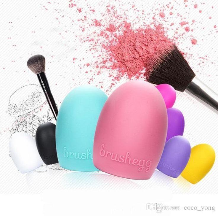 Brushegg Silikon Bürsten Reinigungs Bürsten Ei Ei Kosmetischer Bürsten Reinigungsmittel Bilden