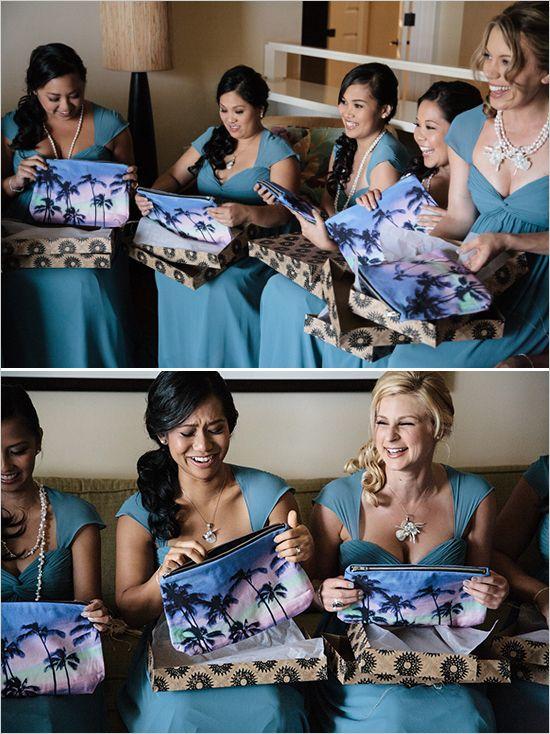 Hawaiian bridesmaid inspired gifts