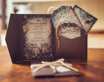 Secret Garden Enchanted Wedding Invitation by GorgeousInvites