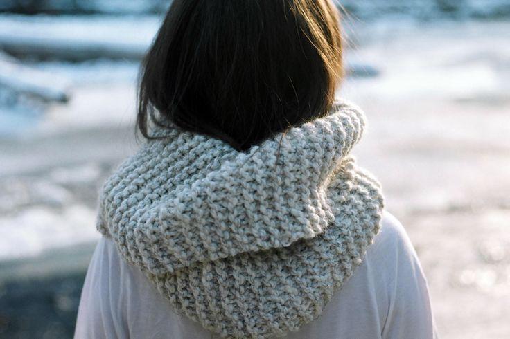Tight Knit Cowl in Speckled Wheat #greatnorth #westcoast #explorecanada #knitwear #holidaygiftideas #giftideas #cozy #keepwarm #bundleup #christmasiscoming #handcraft #locallygrown