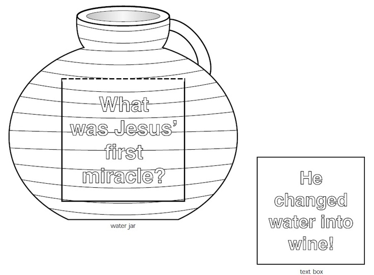 jesus turns water into wine coloring page - printable south florida church of christ http