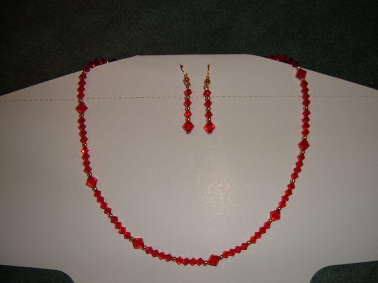 Collana e orecchini in swarosky
