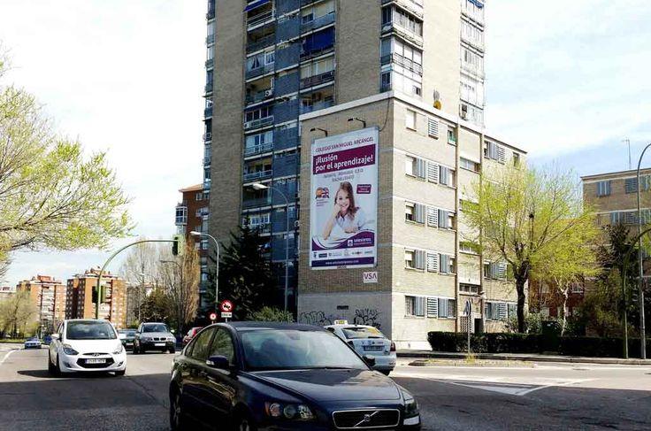 Publicidad medianera Madrid  para COLEGIO SALESIANO SAN MIGUEL ARCANGEL