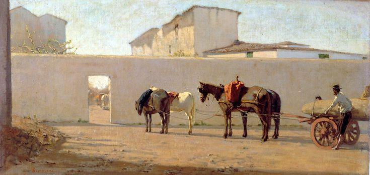 Telemaco Signorini  -Le mur blanc 1867