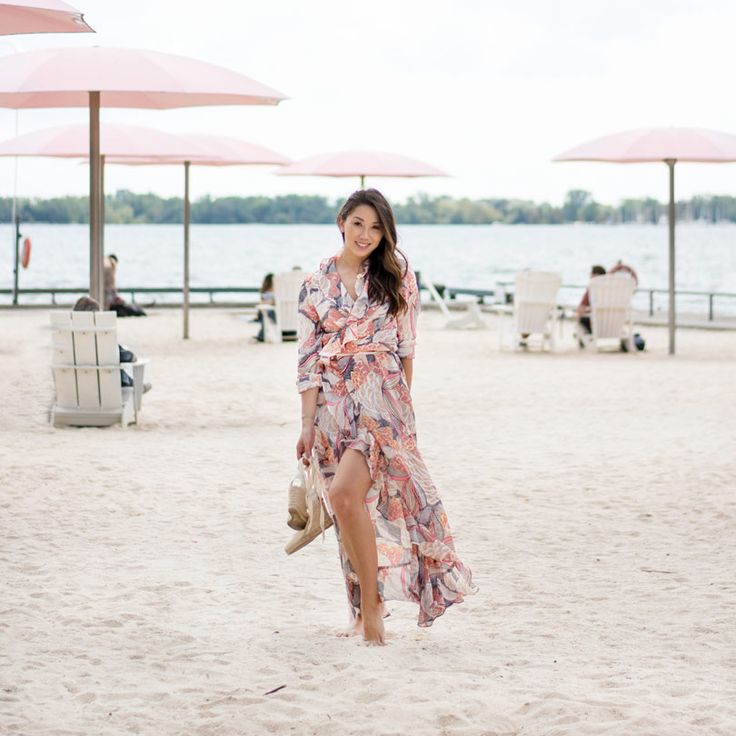 Love this floral maxi dress I bought online, you wouldn't guess where! Long sleeve maxi dress, wrap dress style. Perfect for summer