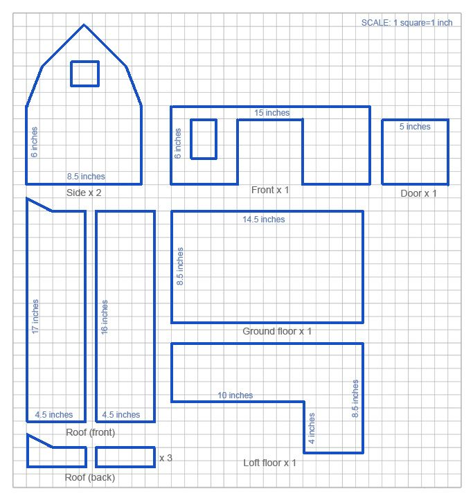 Handmade Toy Wooden Barn: a DIY project with the plan template                                                                                                                                                                                 More