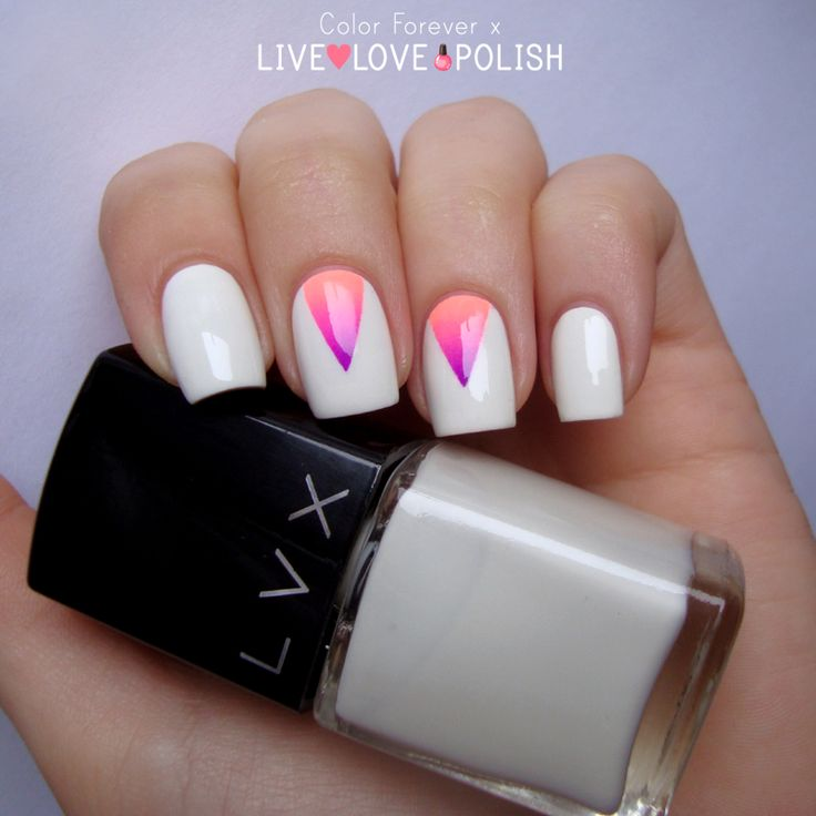 Color Forever Grant Triangle Nail Art With Live Love Polish