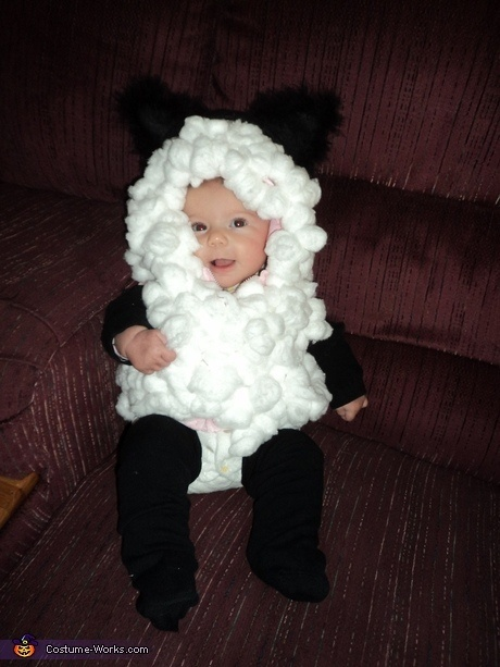 DIY Baby Lamb Costume | Halloween | Pinterest