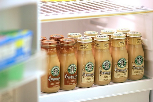starbucks = my addiction! My fridge on a daily..Food Obsession, Colleges Dorm Room, Yummy Drinks, Coffee, Addict, Future Fridge, Favorite Recipe, Starbucks, Food Drinks