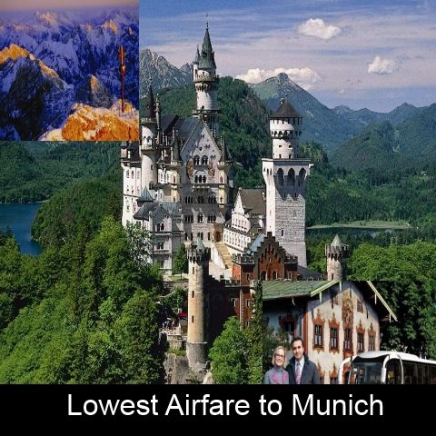 """""""Lowest Airfare to Munich""""  Munich is known for its rich #culture, beautiful sights and exciting events. Plan a trip to #Munich at lowest airfare."""