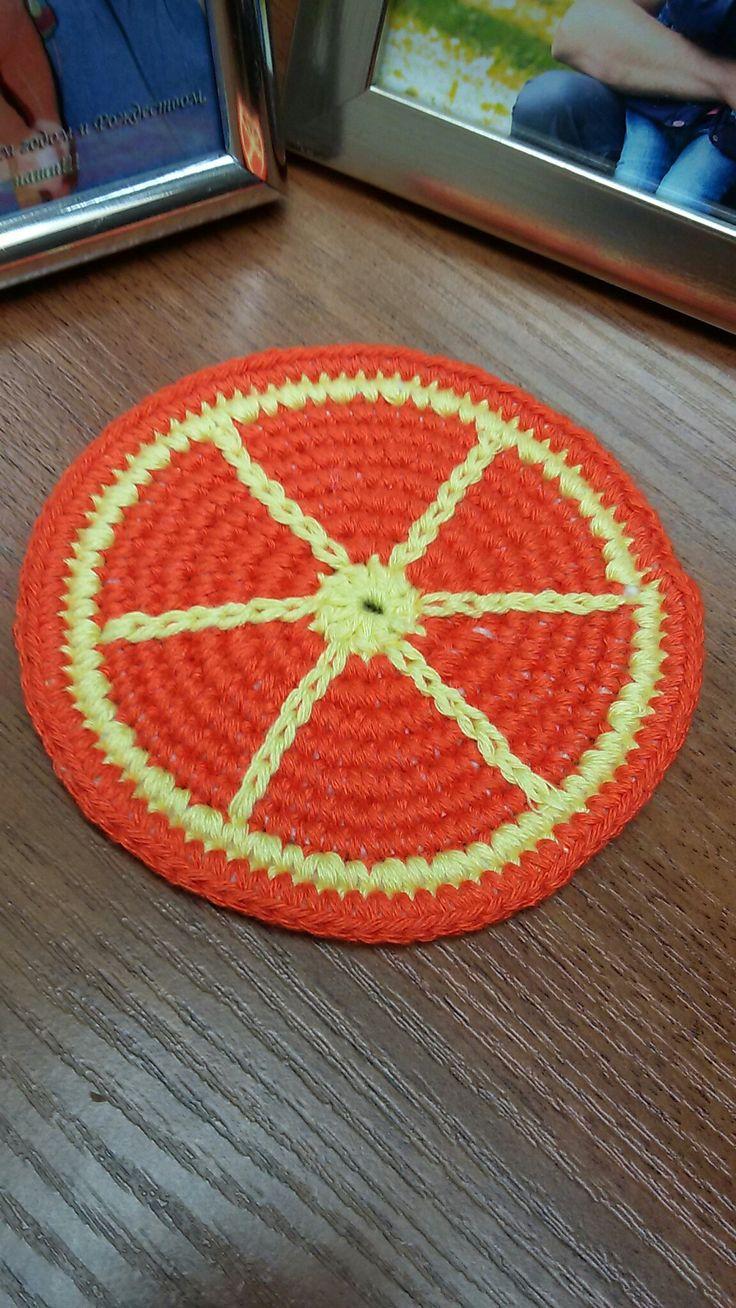 Подставка для кружки Апельсин