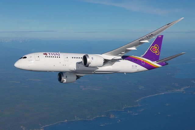 Military and Commercial Technology: Thai grounded part of its Boeing 787-8 fleet due to Rolls-Royce Trent 1000 engine turbine replacement issues