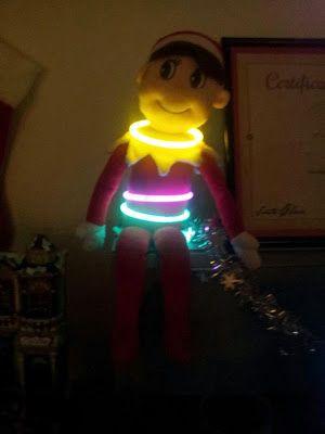#ElfOnTheShelfIdeas #ElfieJasinski #KidsChristmasTradition #Creative #GlowSticks #PartyElf #Christmas