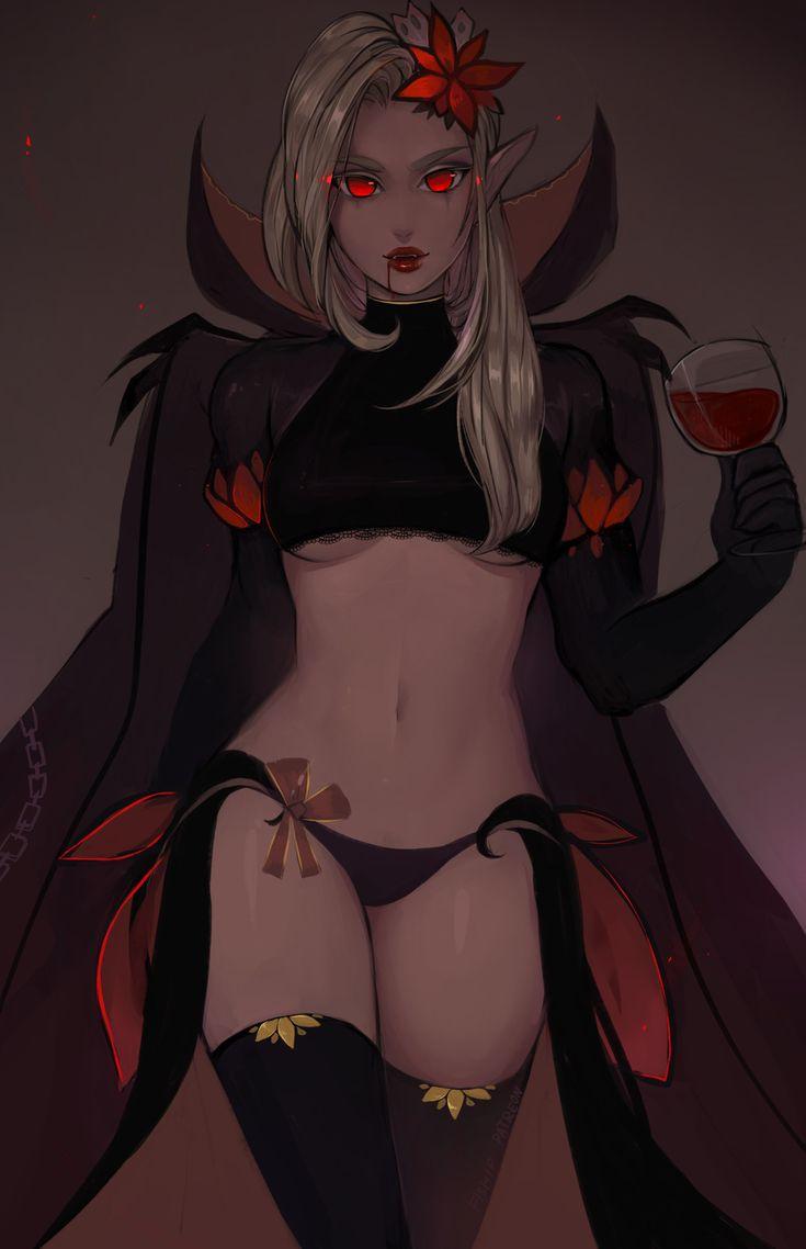 Vampire girl, Matilda Fiship on ArtStation at https://www.artstation.com/artwork/X8re0