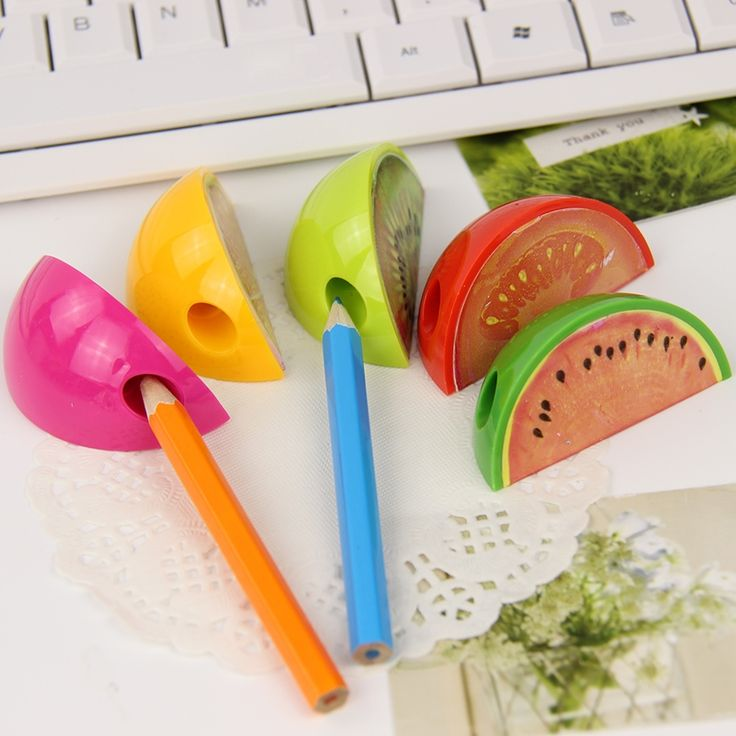 0.95$  Buy here - 3 PCS New Fruit Pencil Sharpener Colorful Cute Gift Stationery For Children Mini Pencil Sharpener   #buymethat