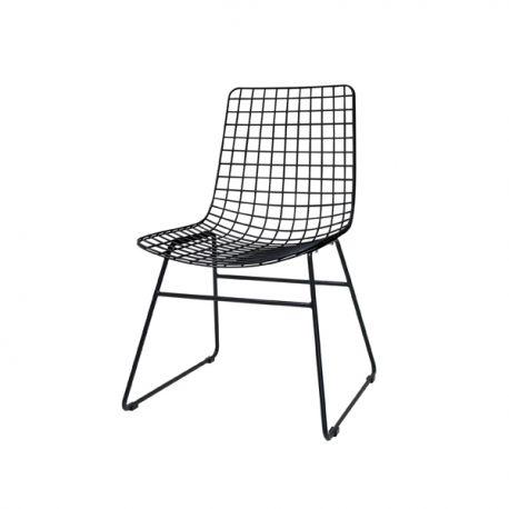 Chaise fil métallique noir