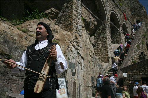 Panagia Soumela, Trabzon, Macka, Turkey, 2009A Pontian musician plays ...