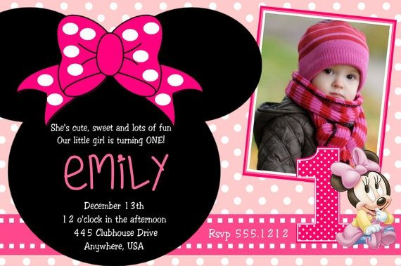 Minnie Mouse Birthday Party Invitations With Great Template For