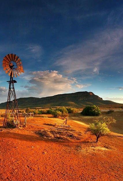 amphitheatre of mountains located 429 kilometres north of Adelaide, South Australia, Australia