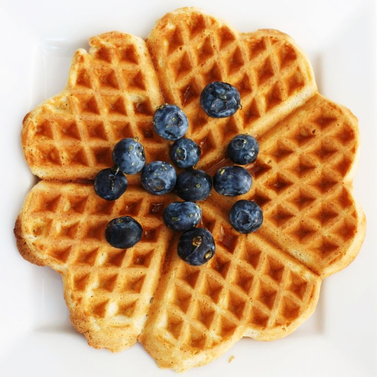 Wholegrain waffle, maple syrup, blueberry