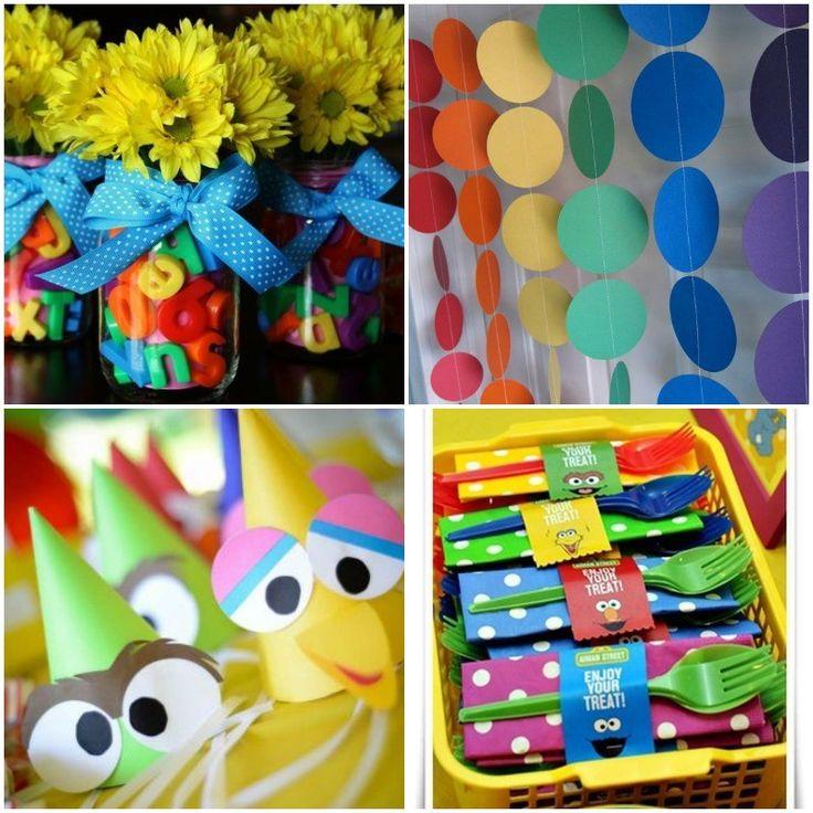 Ideas para decorar cumpleanos infantil de barrio sesamo cumpleaños Pinterest Ideas para