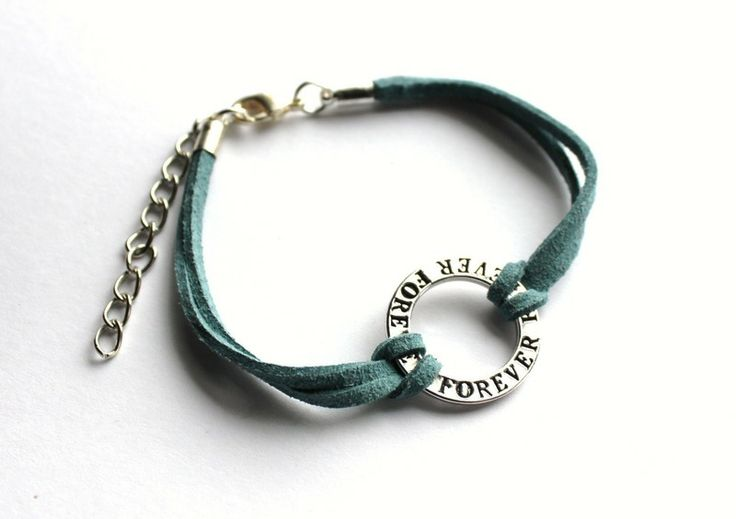 """Forever"" strap bracelet  from Especially for You by http://en.dawanda.com/shop/slicznieilirycznie"