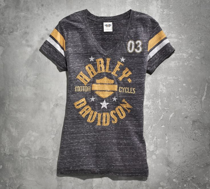 This tee is the kind of comfy shirt you'd steal from your boyfriend. Except you don't need the boyfriend. | Harley-Davidson Women's 1903 Genuine Quality Tee