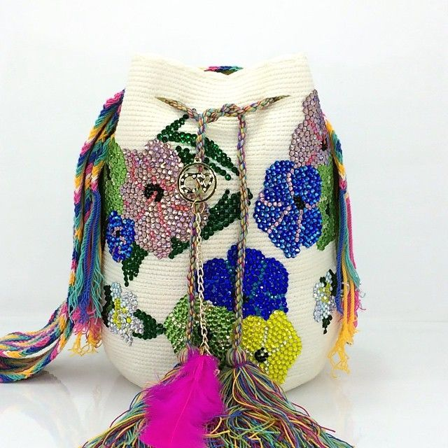 Wayuu Mochila bag beaded