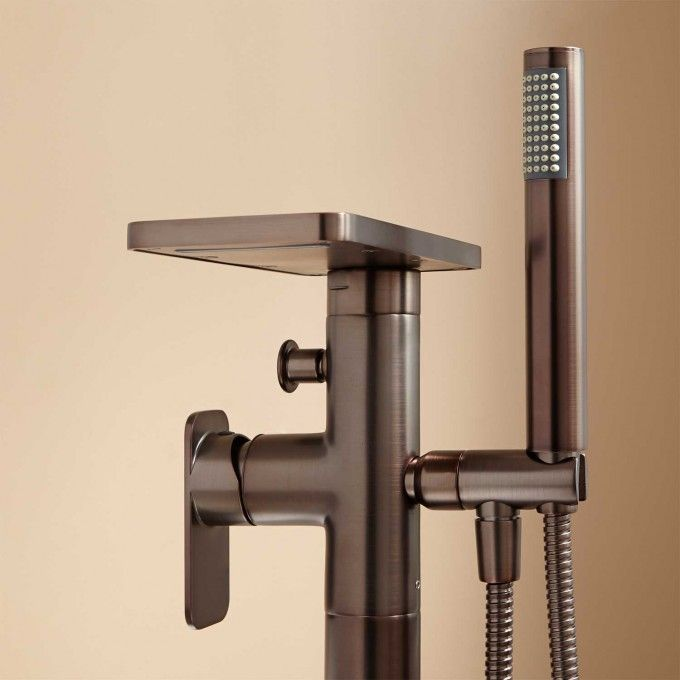 Oil Rubbed Bronze Detail Freestanding Tub Faucet Tub Faucet