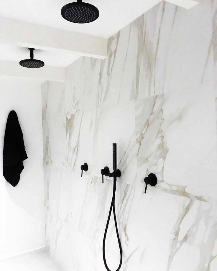 Beautiful stone tiling meld seamlessly with #MeirBlack. A space that breathes luxe & tranquility #Meir #MeirAustralia #MeirUk