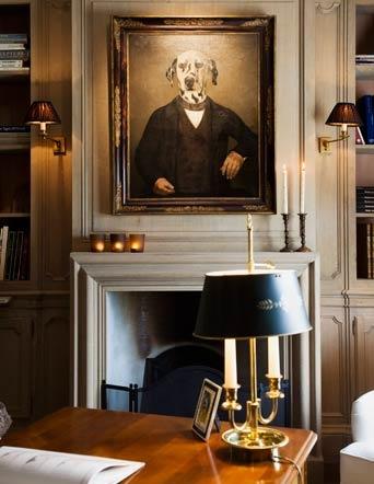 HOME DECOR – IDEAS – Den, Bespoke greyed oak library - custom made  www.lefevre.be