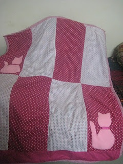 kitty baby quilt