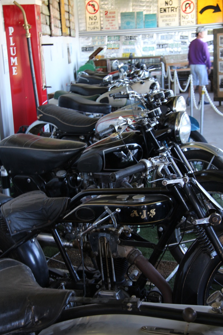 Robert Stein Winery in Mudgee, a vintage Motorcyle exhibit to attract a different range of visitors and there's great wine labels to match the collection too.