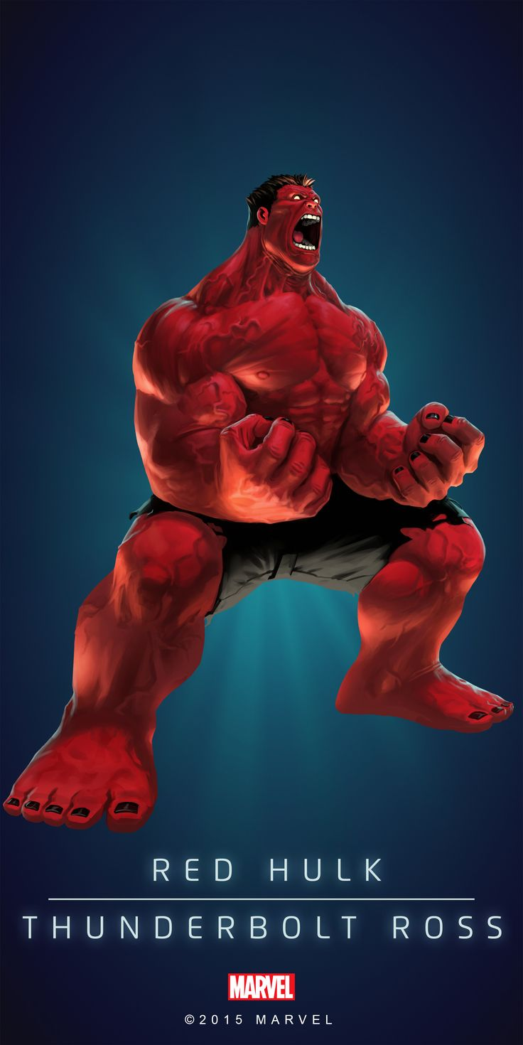 #Hulk #Red #Fan #Art. (RULK! IN: MARVEL'S PUZZLE QUEST!) BY: AMADEUS CHO! ÅWESOMENESS!!!™ ÅÅÅ+(IT'S THE MOST ADDICTING GAME ON THE PLANET, YOU HAVE BEEN WARNED!!!)
