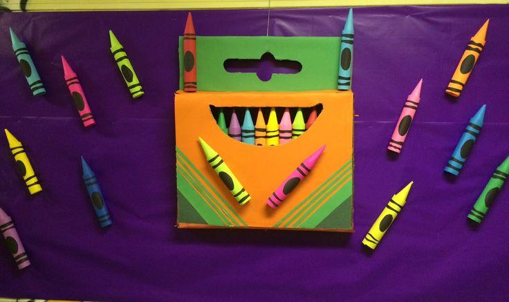 Bulletin board crafts , crayola box