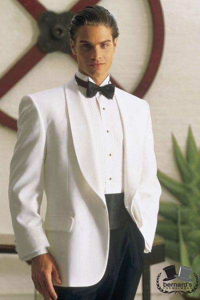 -classic white 1 button shawl #tuxedo  www.bernardsformalwear.com #bernardstux