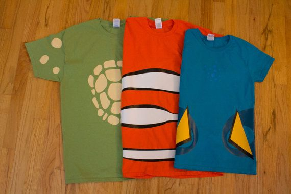 nemo dory and crush inspired shirts by froglegstudios on Etsy